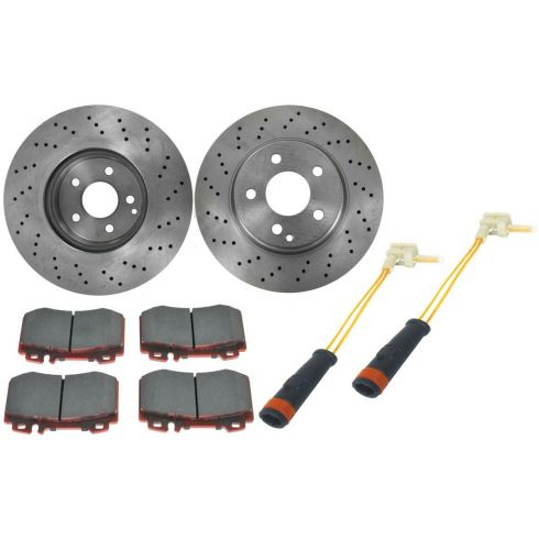 Brake Pad with Sensors & Rotor Kit CERAMIC