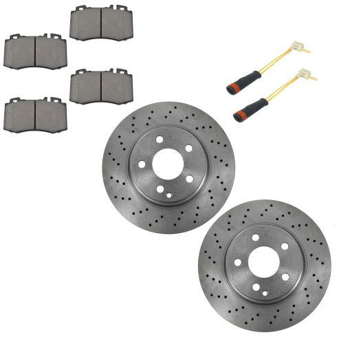 Ftront Metallic Disc Brake Pads & Rotor Set AXMD847, AX900612