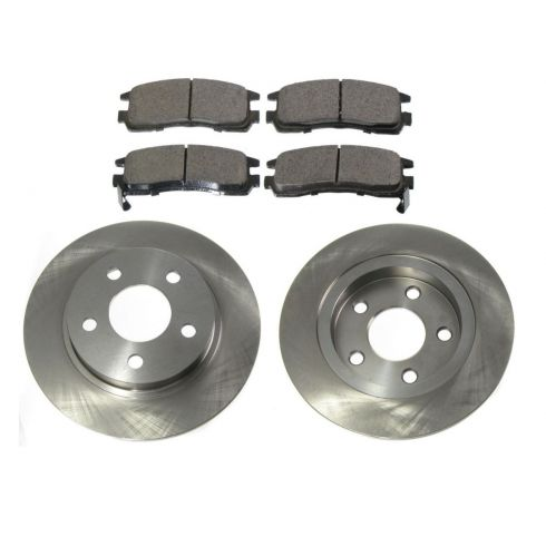 Rear Ceramic Brake Pad & Rotor Set AX55065,  AXCD714