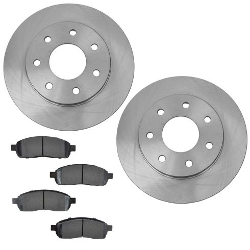 06-08 Ford F150 4WD w/7 Lug Front Brake Rotor & Metallic Pad Set
