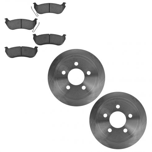 03-07 Jeep Liberty, 03-06 Wrangler Rear Ceramic Pads & Rotor Set