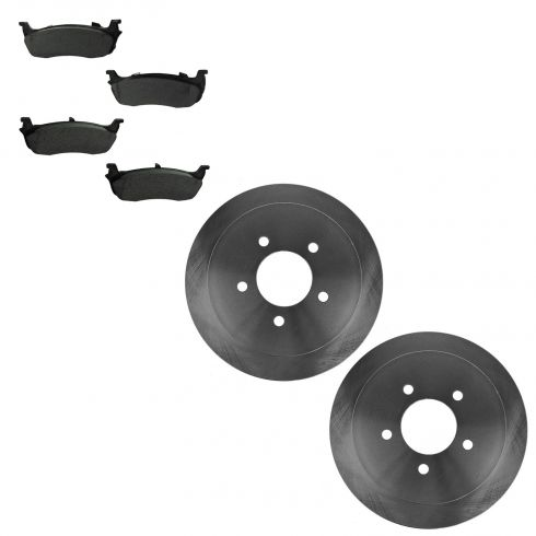 97-99 Ford Expedition; 97-99 F150; 98-99 Lincoln Navigator Rear Metallic Pads & Rotor Set