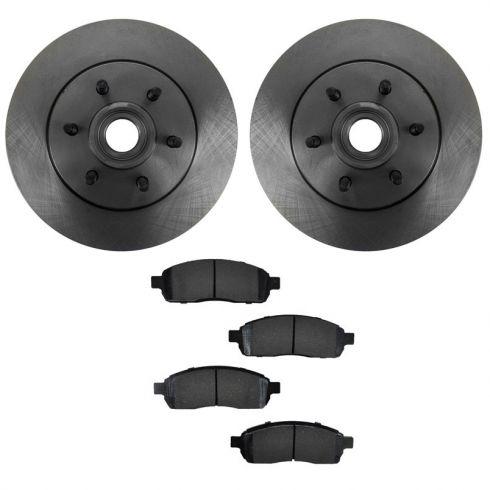 04-08 F150; 06-08 Lincoln LT6 Lug 2wd Frt Metallic Pads & Rotor Set