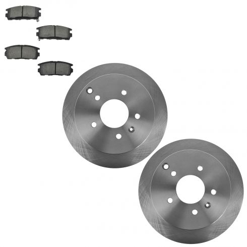 07-09 Equinox, Torrent; 08-09 Vue; 07-09 XL-7; Rear Ceramic Pads & Rotor Set