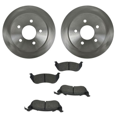 Brake Pad (1 Inch Clip) & Rotor Kit SEMI-METALLIC