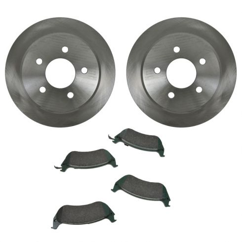 Brake Pad (1 Inch Clip) & Rotor Kit CERAMIC