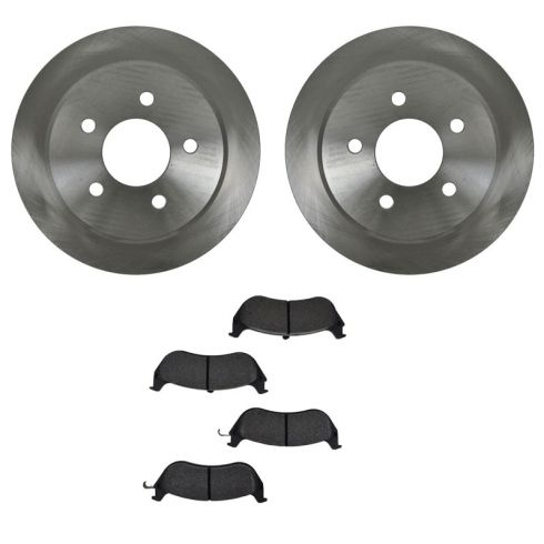 Brake Pad (1.75 Inch Clip) & Rotor Kit SEMI-METALLIC