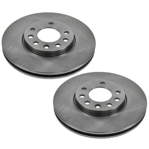 03 Saab 9-3 Sedan; 04-11 9-3 (w/15 Inch Wheel) Front Disc Brake Rotor Pair