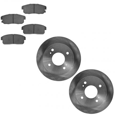 02-06 Sentra SE-R (EX. V) 01-02 G20 Rear Ceramic Pads & Rotors Kit