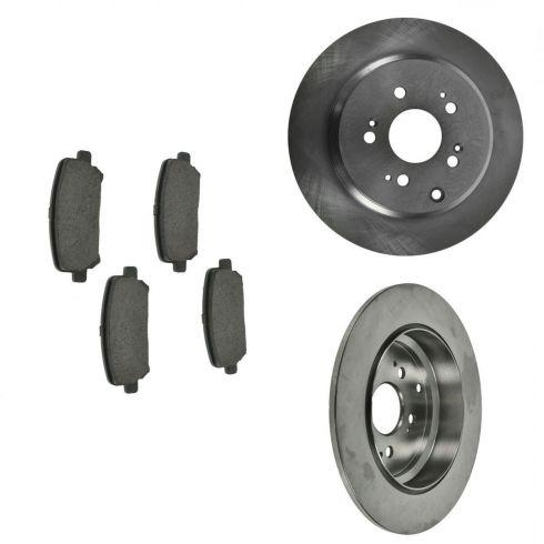 07-12 Acura MDX; 10-12 ZDX; 11-12 Honda Odyssey; 09-12 Pilot Rear Ceramic Pads & Rotors Set