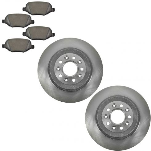 10-12 Taurus, MKT; 09-12 MKS Rear Metallic Pads & Rotors Set