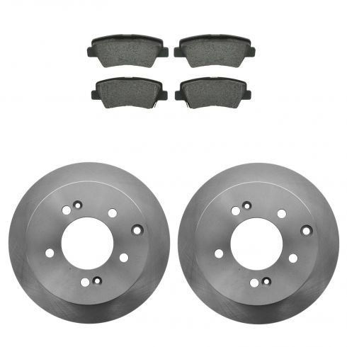 10-11 Kia Soul Rear Metallic Brake Pads & Rotors Set