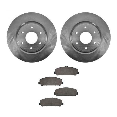 06-07 Infiniti QX56, 06-07  Nissan Armada Front Ceramic Brake Pads & Rotors Set