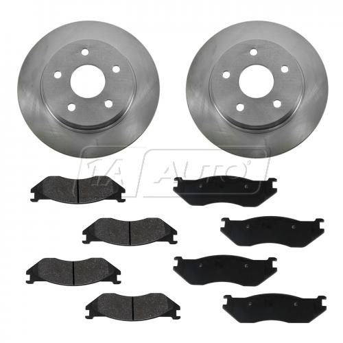 04 Dodge Durango Front Metallic Brake Pads & Rotors Set