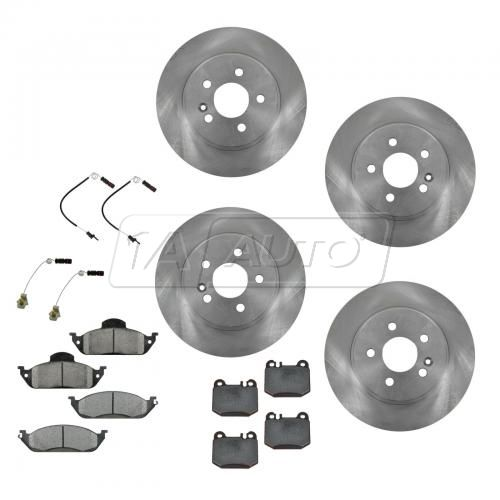 99-03 ML320; 03-05 ML350; 99 ML430 Fr &  Rr Metallic Pads & Rotors Set with Sensors