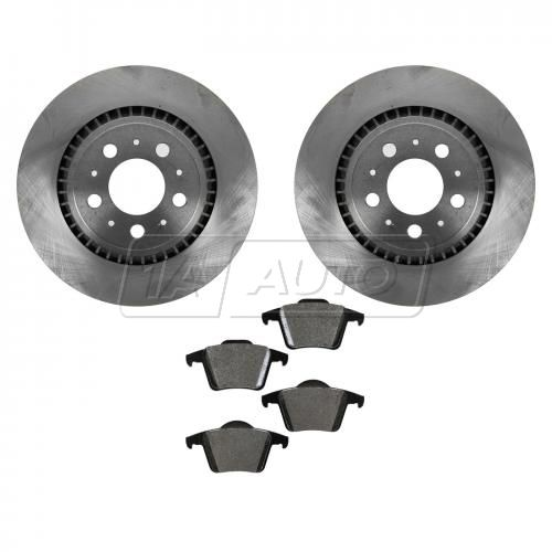 03-12 Volvo XC90 Rear Metallic Brake Pads Set & Rotors Kit