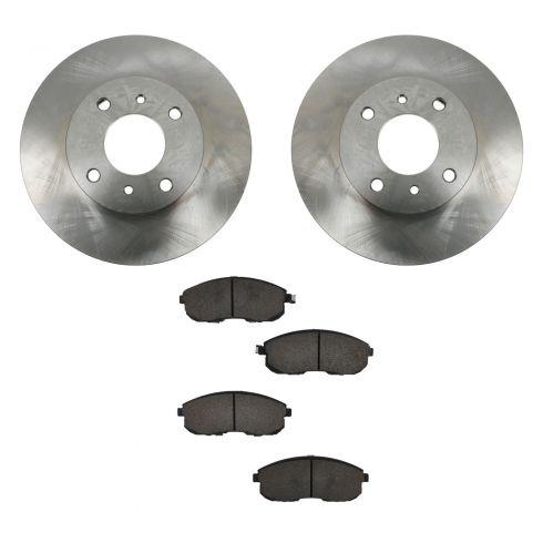 99-01 G20; 93-01 Altima; 00-06 Sentra Front CERAMIC Brake Pad & Rotor Kit