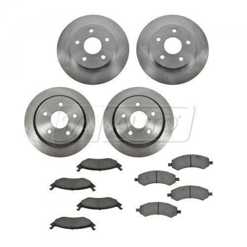 07-09 Chrysler Aspen, Dodge Durango; 06-12 Ram 1500 Front & Rear CERAMIC Brake Pad & Rotor Kit