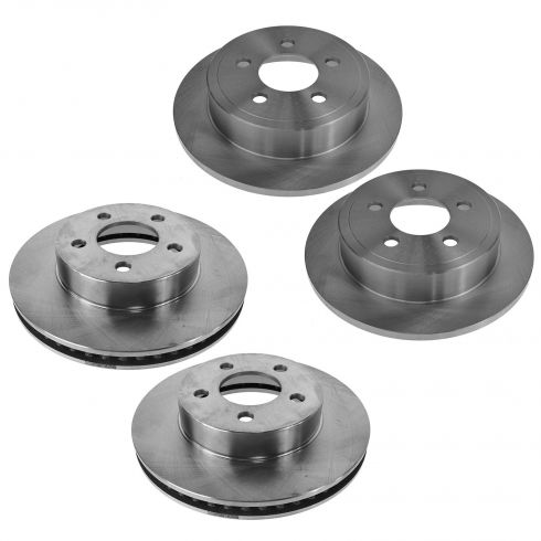 03-07 Jeep Liberty Front & Rear Brake Rotor Kit (Set of 4)