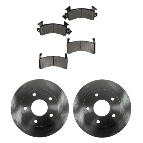 Buick, Cadillac, Chevy, GMC, Olds Multifit Front METALLIC Brake Pad & Rotor Kit