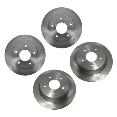 98-05 Chevy S10 Blazer; 98-02 GMC S15 Jimmy Front & Rear Brake Rotor Kit (Set of 4)