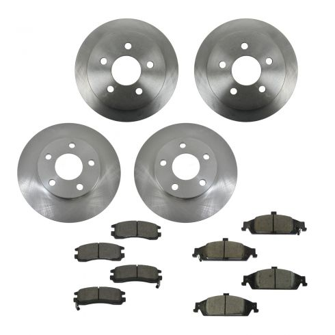 99-04 Olds Alero; 99-05 Pontiac Grand Am Front & Rear CERAMIC Brake Pad & Rotor Kit