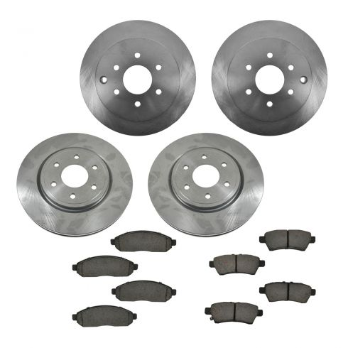 05-12 Nissan Pathfinder Front & Rear CERAMIC Brake Pad & Rotor Kit