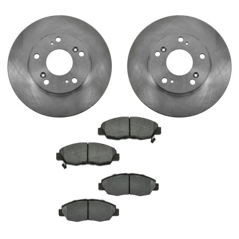 06-10 Honda Civic exc GX or SI Front METALLIC Brake Pad & Rotor Kit