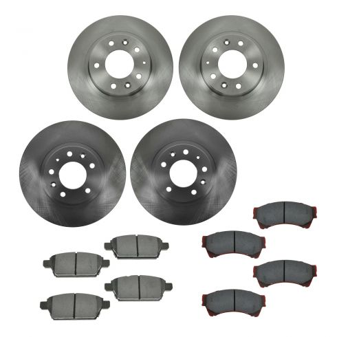 06-12 Fusion, Hybrid;07-12 MKZ; 06 Zephyr; 06-12 6; 06-11 Milan Frt &Rr METALLIC Brake Pad/Rotor Kit