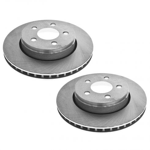 08-12 Liberty; 07-11 Nitro w/12 In Rotor) Front Disc Brake Rotor PAIR