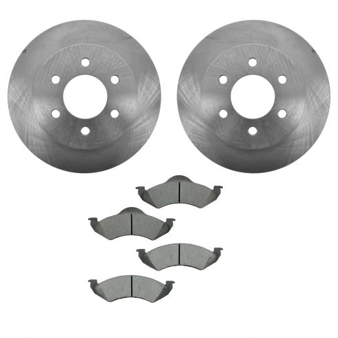 00-02 Dodge Dakota, Durango Front CERAMIC Brake Pad & Rotor Kit
