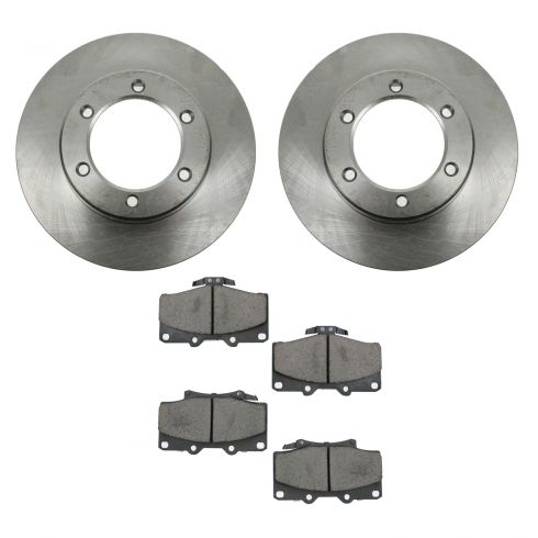 92-95 Toyota 4Runner; 93-98 T100 4WD Front CERAMIC Brake Pad & Rotor Kit