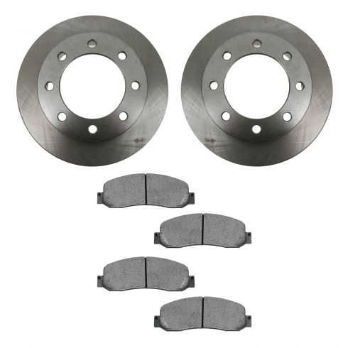 05-08 Ford F250SD, F350SD 4WD Front METALLIC Brake Pad & Rotor Kit