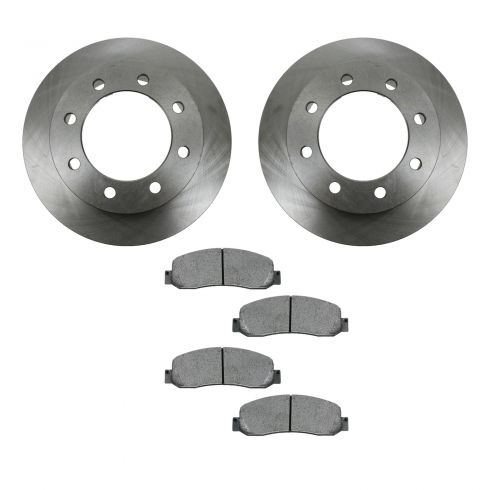 05-08 Ford F350 Pickup 4WD DRW Front METALLIC Brake Pad & Rotor Kit