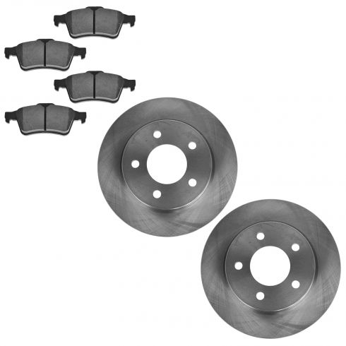 04-10 Mazda 3 2.0L Rear METALLIC Brake Pad & Rotor Kit