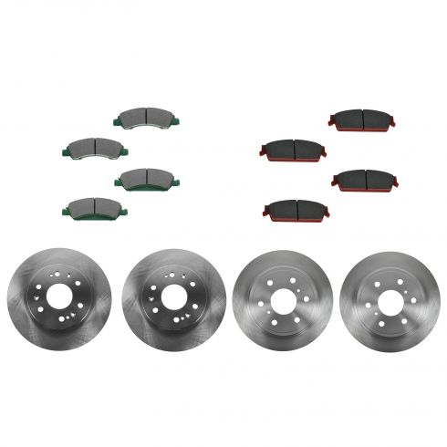 08-12 Cadillac, Chevy, GMC Pickup SUV Multifit Front & Rear CERAMIC Brake Pad & Rotor Kit