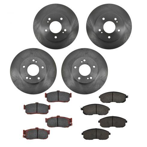 96-99 Infiniti I30; 94-99 Nissan Maxima Front & Rear CERAMIC Brake Pad & Rotor Kit