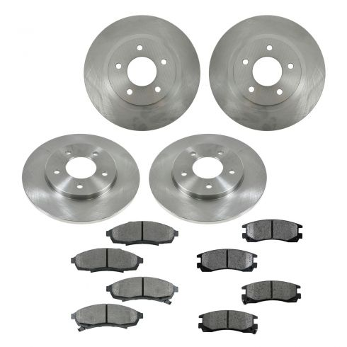 95-96 Buick, Chevy, Olds, Pontiac Multifit Front & Rear METALLIC Brake Pad & Rotor Kit