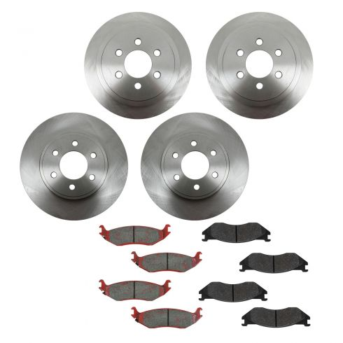 03 Dodge Durango Front & Rear METALLIC Brake Pad & Rotor Kit