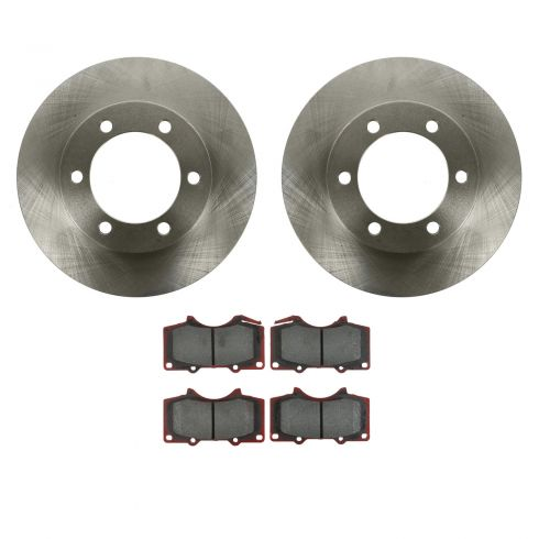 03-07 Toyota Sequoia; 00-06 Tundra Front CERAMIC Brake Pad & Rotor Kit