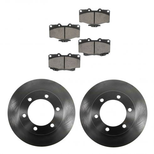 96-02 Toyota 4Runner Front CERAMIC Brake Pad & Rotor Kit