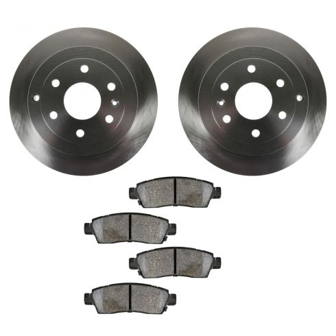 07-12 Acadia; 08-12 Enclave; 07-10 Outlook; 09-12 Traverse Rear CERAMIC Brake Pad & Rotor Kit