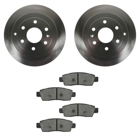 07-12 Acadia; 08-12 Enclave; 07-10 Outlook; 09-12 Traverse Rear METALLIC Brake Pad & Rotor Kit