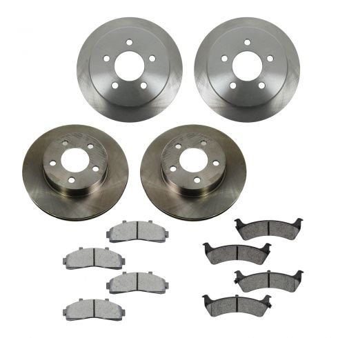 95-01 Ford Explorer; 97-01 Mercury Mountaineer Front & Rear METALLIC Brake Pad & Rotor Kit