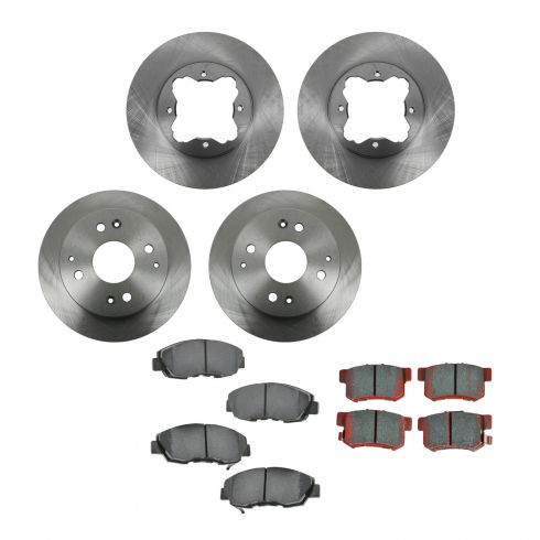 97 CL; 93-97 Accord Coupe; 94-97 Accord Sedan Front & Rear CERAMIC Brake Pad & Rotor Kit