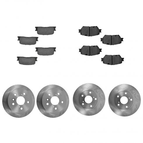 02-06 Toyota Camry LE Front & Rear CERAMIC Brake Pad & Rotor Kit