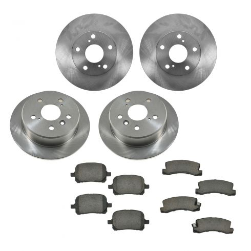 97-99 Lexus ES300, Toyota Camry Front & Rear CERAMIC Brake Pad & Rotor Kit