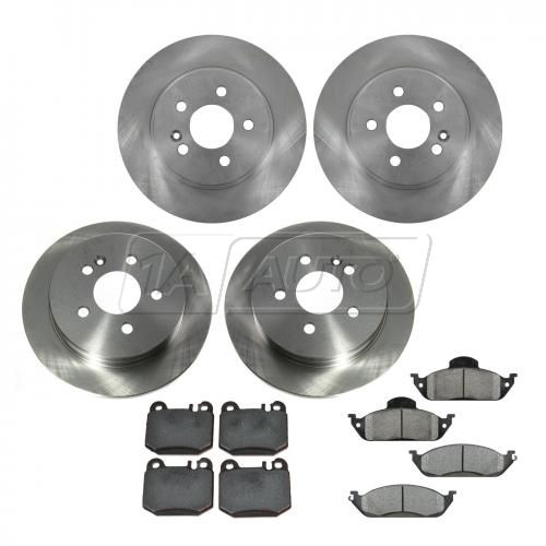 99-03 MB ML320; 03-05 ML350; 99 ML430 Front & Rear METALLIC Brake Pad & Rotor Kit