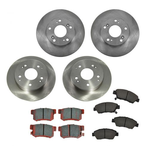02-06 Acura RSX (exc Type S) Front & Rear CERAMIC Brake Pad & Rotor Kit