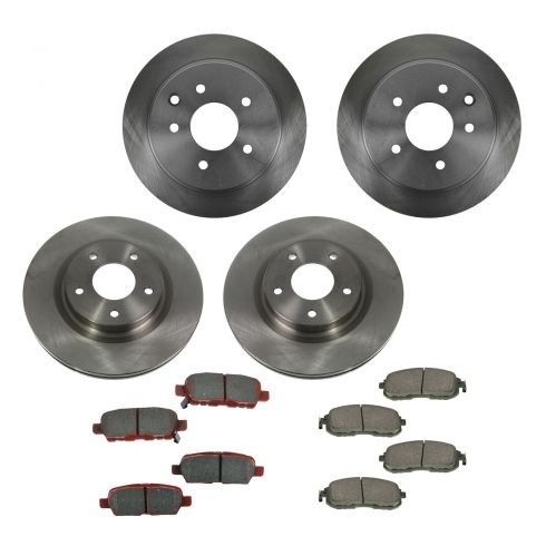 07-10 Nissan Altima Front & Rear CERAMIC Brake Pad & Rotor Kit